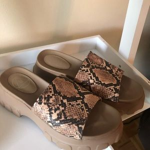 MISSGUIDED animal print sandals